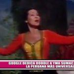 Google dedica doodle a Yma Sumac, la peruana más universal