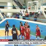 Básquet: Elías Aguirre derrotó y ganó la final del baloncesto militar