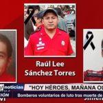 Lima: Bomberos voluntarios de luto tras muerte de 3 compañeros