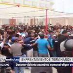 Piura: Violento enfrentamiento durante asamblea comunal deja comuneros y policías heridos