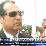 Trujillo: Decano del Colegio de Profesores pide suspensión de clases por varicela