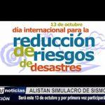 Trujillo: Defensa Civil alista simulacro de sismo y tsunami para el 13 de octubre