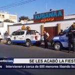 Trujillo: 600 menores fueron encontrados durante operativo en discoteca