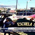 Chimbote: Alumnos de medicina e ingeniería acatan huelga y exigen mejor educación