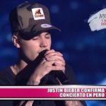 Justin Bieber confirma concierto en Perú