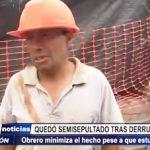 Trujillo: Obrero de construcción civil queda semisepultado tras derrumbe de arena