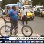 Trujillo: Ciclista sorprendió a ladrón robando sus pertenencias