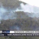 La Libertad: Cachil y Bambamarca pierden decenas de hectáreas por incendios