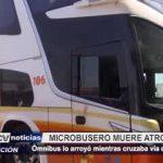 Trujillo: Microbusero muere atropellado mientras cruzaba vía de evitamiento