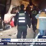 Chimbote: Un muerto y 36 heridos en accidente en la Panamericana Norte