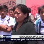 La Esperanza: Madre pide ayuda para ubicar restos de su hijo ahogado