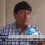 Alto Trujillo: Balean casa de ex alcalde y no se descarta que móvil sea político