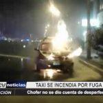 Trujillo: Taxi se incendia debido a fuga de gas