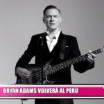 Bryan Adams regresará al Perú en el 2017