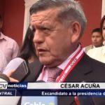 La Libertad: César Acuña sostiene que trabajará como asesor de Luis Valdez