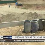 Las Delicias: Vecinos indignados acusan a constructora de malograr el ornato