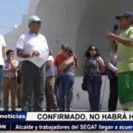 Trujillo: Alcalde y trabajadores del SEGAT llegan a acuerdo tras reunión