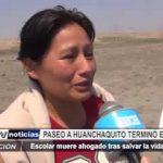 Huanchaquito: Escolar muere ahogado tras salvar la vida de su amiga