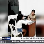 Piura: 72 menores detenidos tras realizar fiesta semáforo en inmueble de exregidor