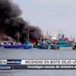 Piura: Incendio en bote dejó un herido