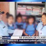 Florencia de Mora: Alumnas de colegio Jorge Basadre prefieren pasear en vez de estudiar