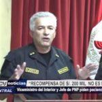 """Trujillo: """"Recompensa de 200 mil soles por entregar a delincuentes no es necesaria"""""""