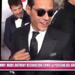 Marc Anthony reconocido como la persona del año por la Academia Latina de la Grabación