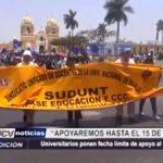 Trujillo: Universitarios ponen fecha límite de apoyo al SUTADUNT