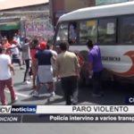 Chimbote: Policía intervino a varios transportistas durante violento paro