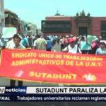 Trujillo: Trabajadores universitarios reclaman reglamentación de colectivo