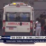 Trujillo: Gobernador Valdez informa sobre fuerte deuda en sector salud