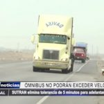 La Libertad: Ómnibus y camiones no podrán exceder velocidad