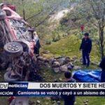 Sánchez Carrión: Camioneta cayó a un abismo de 100 metros dejando 2 muertos y 7 heridos