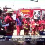 Piura: Más de 60 bomberos sofocaron incendio en Mercado Central