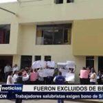 Trujillo: Trabajadores salubristas exigen bono de 1500 nuevos soles mensuales