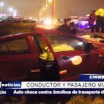 Chimbote: Dos muertos es el saldo tras accidente de un auto contra ómnibus