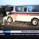 Las Delicias: Dos fallecidos tras choque entre motocicleta y camión