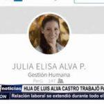 Trujillo: Hija de Luis Alva Castro trabajó para ODEBRECHT