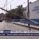 Trujillo: Poste deteriorado colapsó a pesar de alerta anticipada de vecinos
