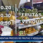 Trujillo: Aumentan precios de frutas y verduras