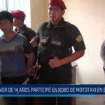 El Porvenir: Menor de 14 años participó en robo de mototaxi