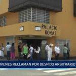 Trujillo: Jóvenes reclaman por despido arbitrario