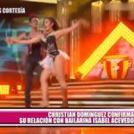 Christian Domínguez confirma su relación con bailarina Isabel Acevedo