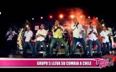 """Grupo 5"" lleva su cumbia a Chile"