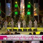 """Presentación de """"Grupo 5"""" en Piura fue suspendida para evitar tragedia"""