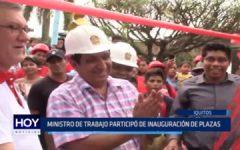 Iquitos: Ministro de Trabajo participó en inauguración de plazas