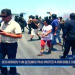 Chimbote: Seis heridos y un detenido tras protesta por doble cobro de peaje