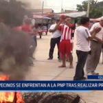 Iquitos: Vecinos se enfrentan a la policía tras realizar protesta