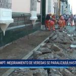 Trujillo: Mejoramiento de veredas se paralizará hasta marzo