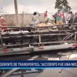 """Gerente de Transportes: """"Accidente de Moche fue debido a una negligencia"""""""